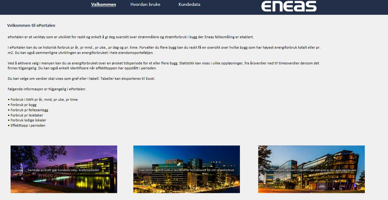 Eneas ePortal Front Page